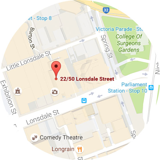 Map: 22/50 Lonsdale St, Melbourne 3000